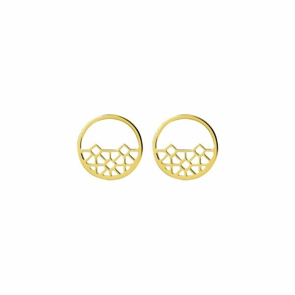 Boucles d'oreilles Murat en plaqué or jaune