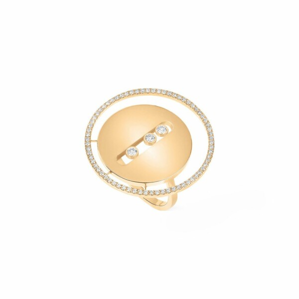 Bague Messika Lucky Move GM en or jaune et diamants