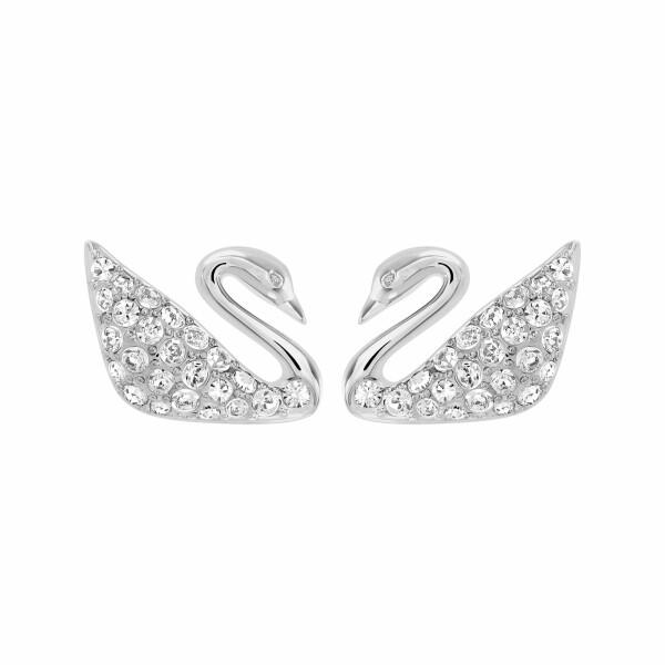 Boucles d'oreilles Swarovski Swan en cristaux Swarovski et acier rhodié