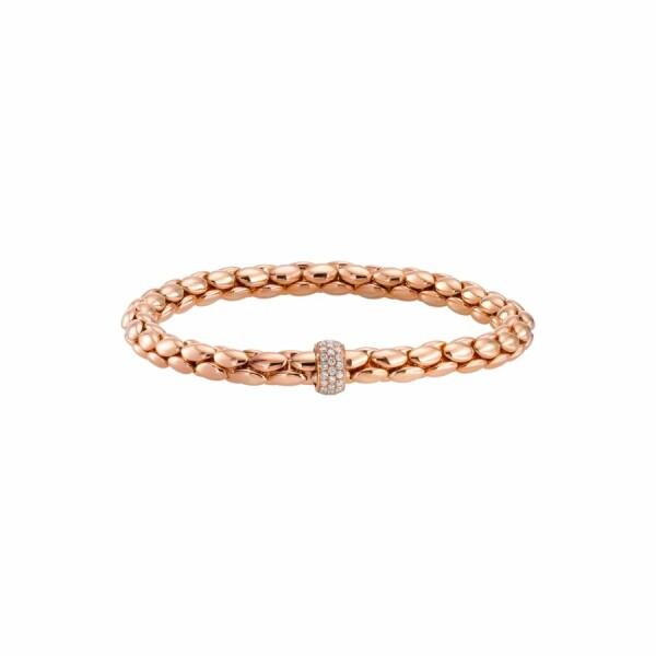 Bracelet en or rose et diamant de 0.296ct