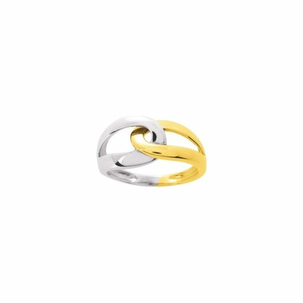 Bague en or jaune et or blanc