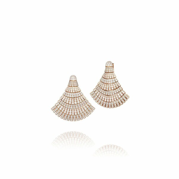 Boucles d'oreilles de GRISOGONO Ventaglio en or rose et diamants
