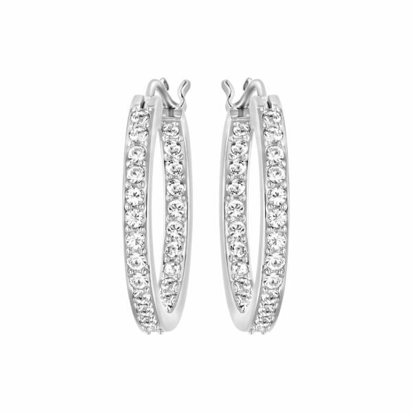 Boucles d'oreilles créoles Swarovski Sommerset en cristaux Swarovski et acier rhodié