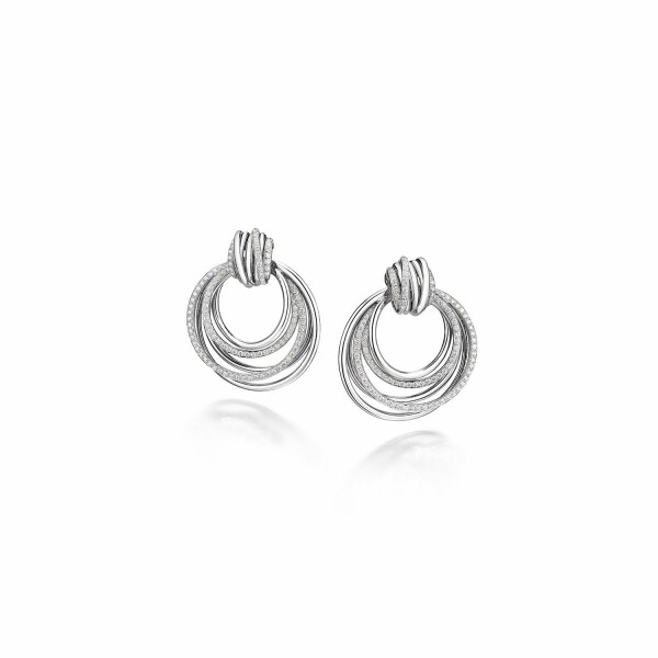 Boucles d'oreilles de GRISOGONO Allegra en or blanc et diamants