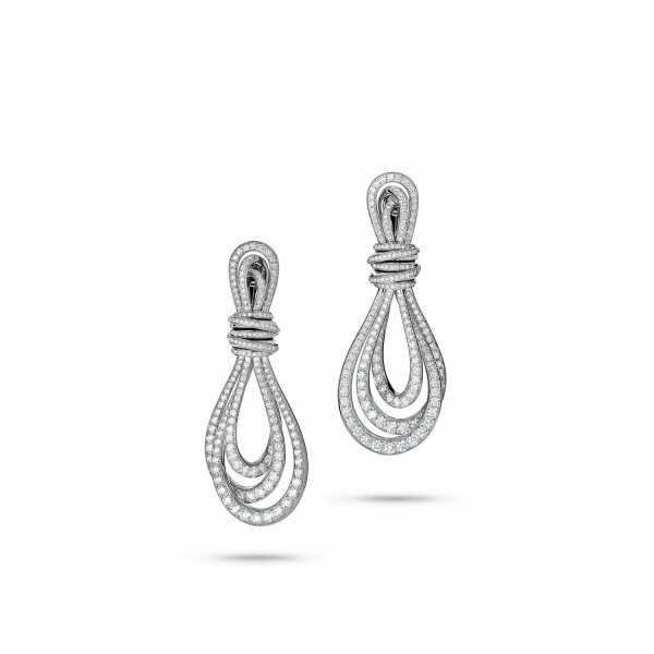 Boucles d'oreilles de GRISOGONO Allegra 25 Glow en or blanc et diamants