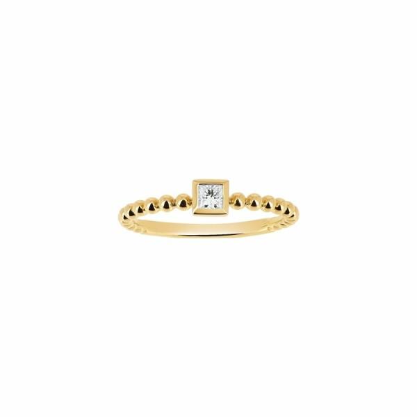 Bague en or jaune et diamant de 0.1ct