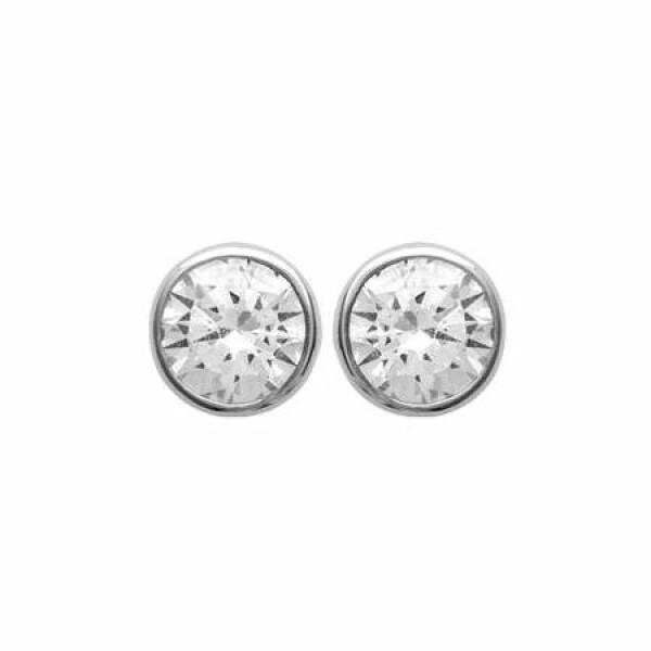 Boucles d'oreilles en argent et oxydes de zirconium