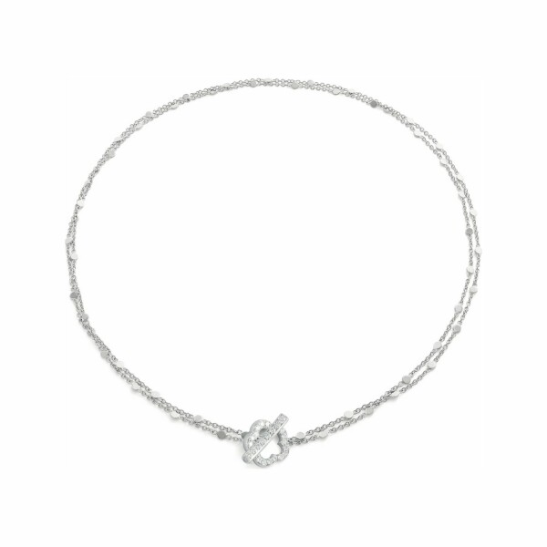 Collier Pasquale Bruni Make Love en or blanc et diamants blancs