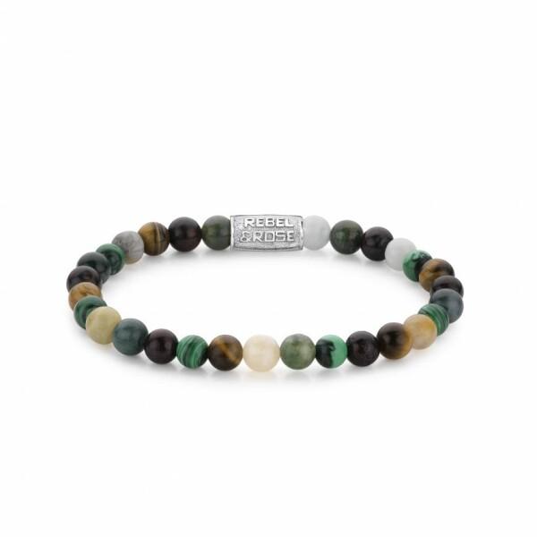 Bracelet Rebel & Rose Stones Only en pierres de couleurs