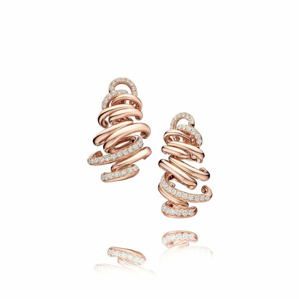 Boucles d'oreilles de GRISOGONO Vortice en or rose et diamants