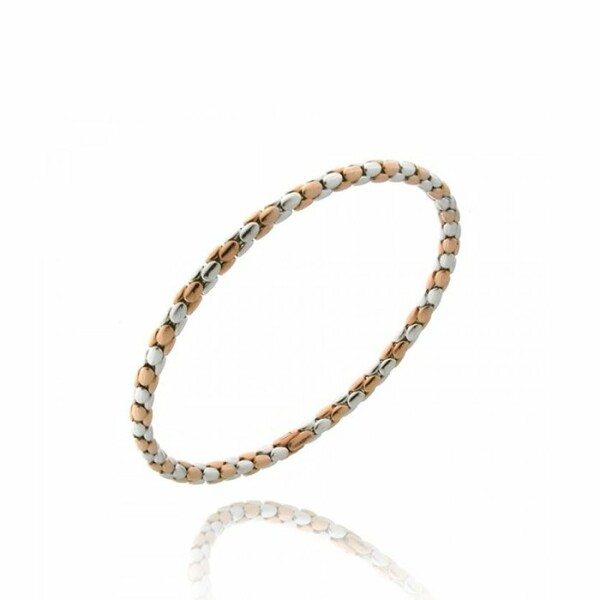 Bracelet CHIMENTO Stretch Spring en or blanc et or rose