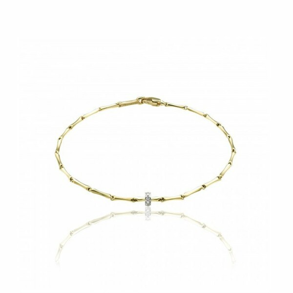 Bracelet CHIMENTO Bamboo Shine en or jaune, or blanc et diamants