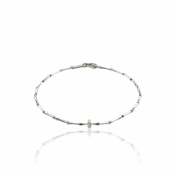 Bracelet CHIMENTO Bamboo Shine en or blanc et diamants