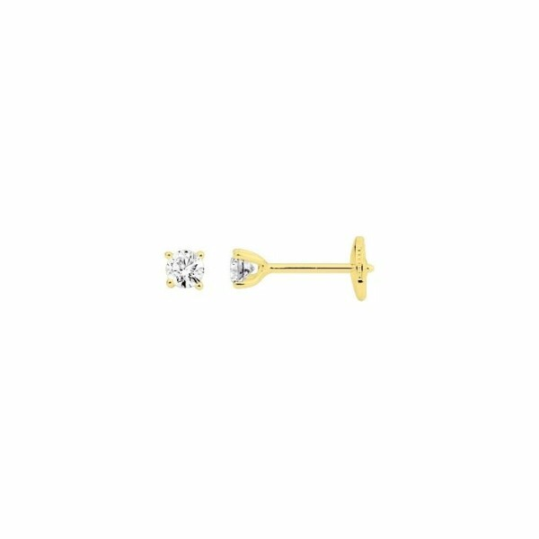 Boucles d'oreilles en or jaune et diamants de 0.36ct