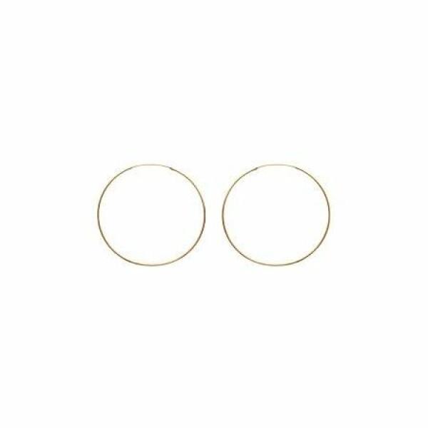Boucles d'oreilles créoles en plaqué or jaune