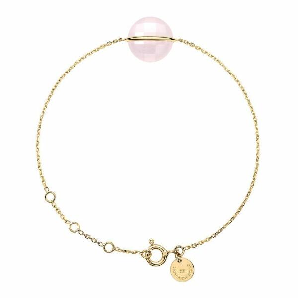 Bracelet Morganne Bello Honoré en or jaune et quartz rose