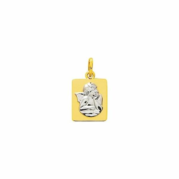 Médaille Ange en or jaune et or blanc