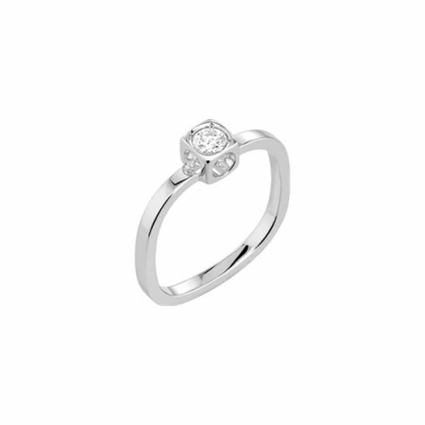 Solitaire dinh van Le Cube Diamant petit modèle en Or blanc et Diamant