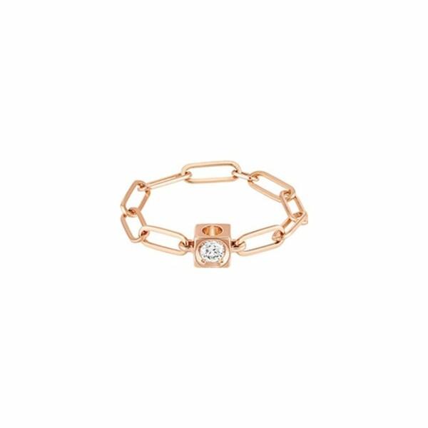 Bague dinh van Le Cube Diamant en or rose et diamant