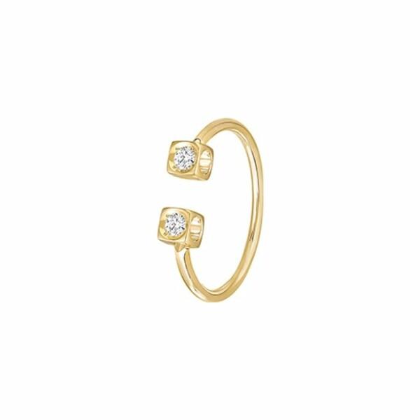 Bague dinh van Le Cube Diamant en or jaune et diamants