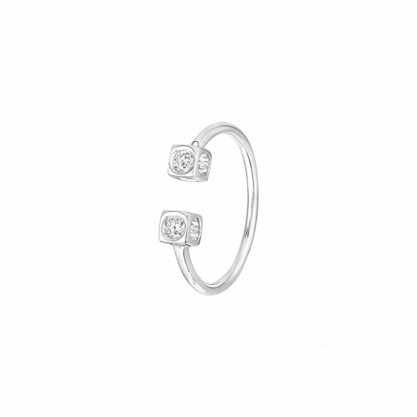 Bague dinh van Le Cube Diamant en or blanc et diamants