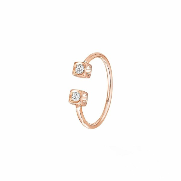 Bague dinh van Le Cube Diamant en or rose et diamants