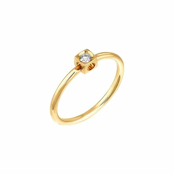 Bague dinh van Le Cube Diamant en or jaune et diamant XS