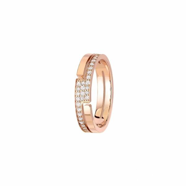 Bague dinh van Seventies petit modèle en Or rose et Diamant