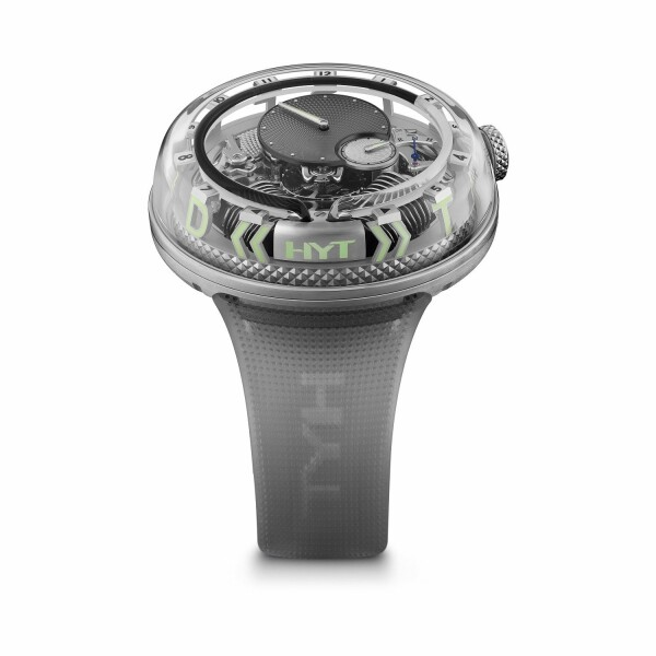 Montre HYT H2.0 Time is Fluid Silver