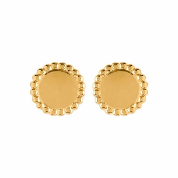 Boucles d'oreilles en plaqué or jaune