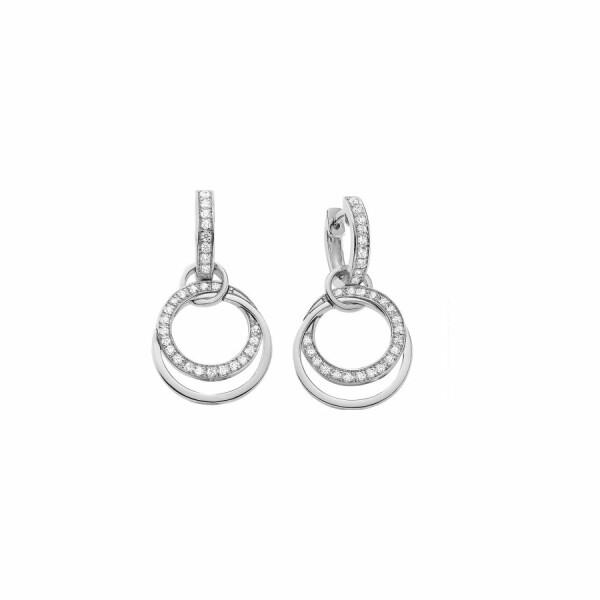 Boucles d'oreilles en or blanc et diamants de 0.3ct