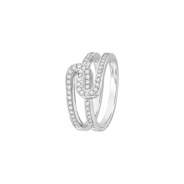 Bague dinh van Maillon Star XS en Or blanc et Diamant