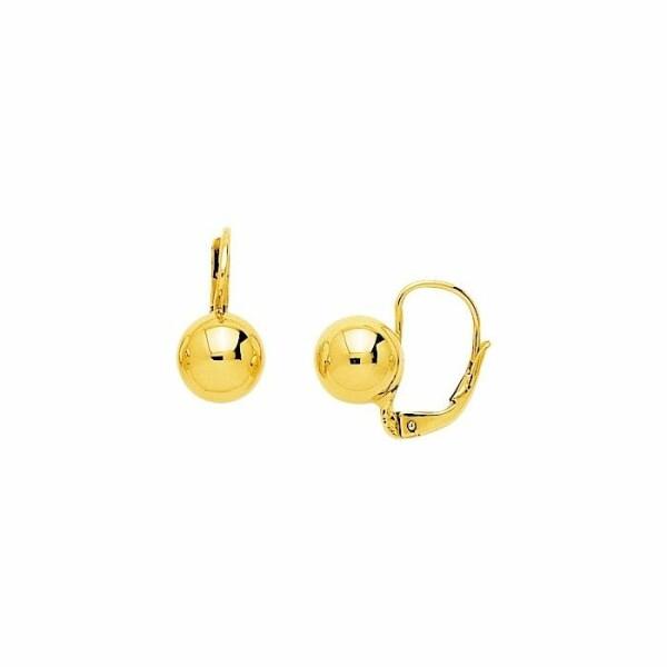 Boucles d'oreilles boules en or jaune