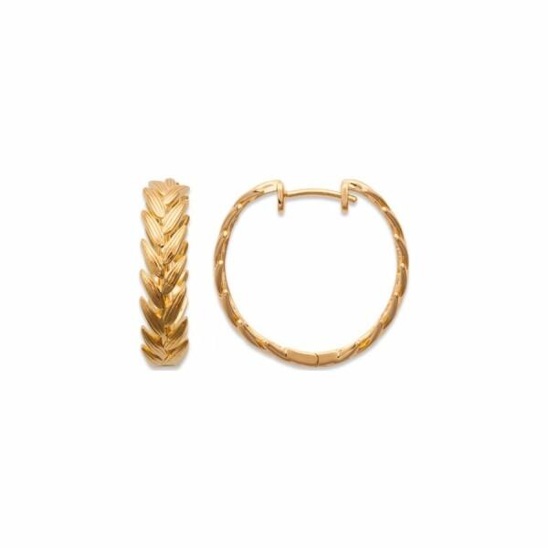 Bracelet en plaqué or jaune et émail