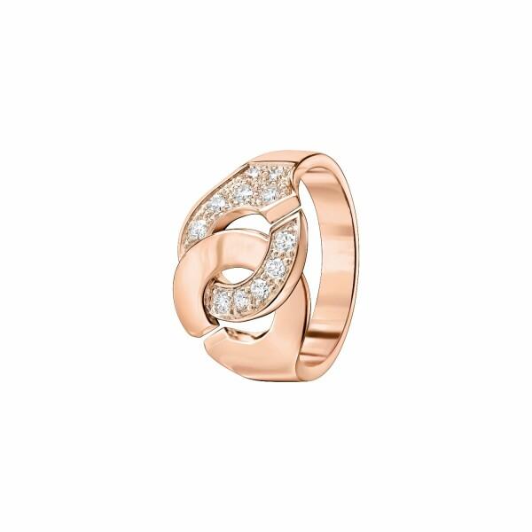 Bague dinh van Menottes dinh van R12 en Or rose et Diamant