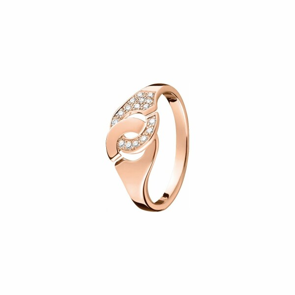 Bague dinh van Menottes dinh van R8 en or rose et diamants