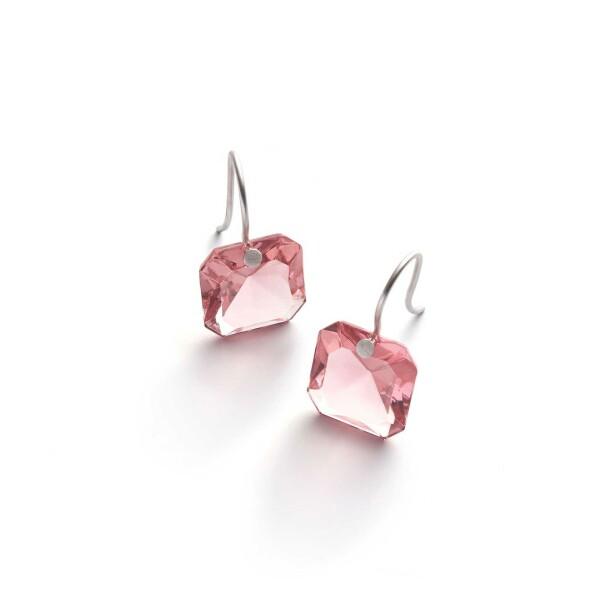 Boucles d'oreilles Baccarat par Marie-Hélène de Taillac en argent et cristal