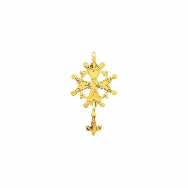 Pendentif croix Huguenote en or jaune
