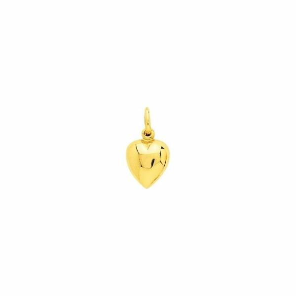 Pendentif cœur en or jaune
