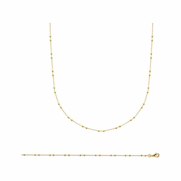 Bracelet en plaqué or jaune, longueur de 42cm