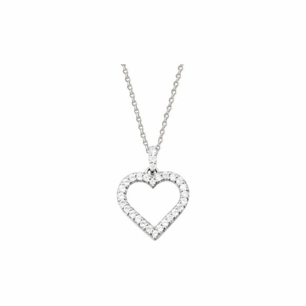 Collier en or blanc et diamants de 0.26ct