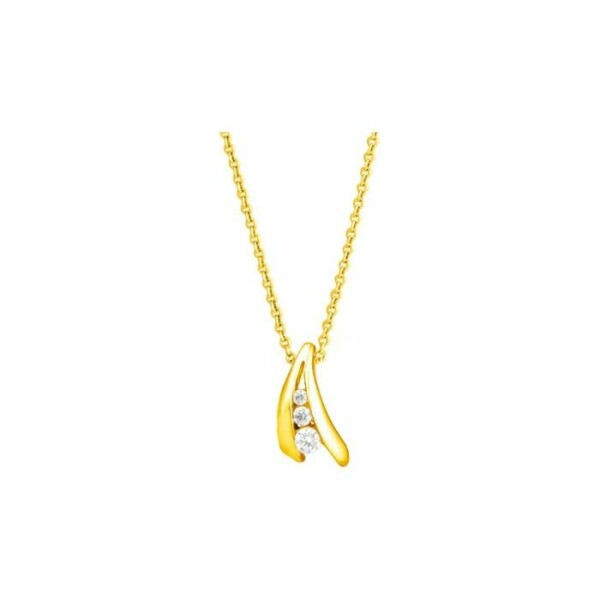Collier en or jaune et diamants de 0.08ct