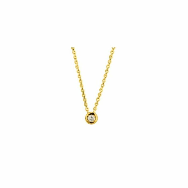 Collier en or jaune et diamants de 0,04ct