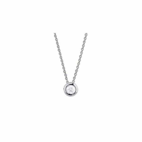 Collier en or blanc et diamants de 0.18ct