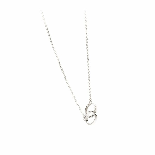 Collier en or blanc et diamants de 0.08ct