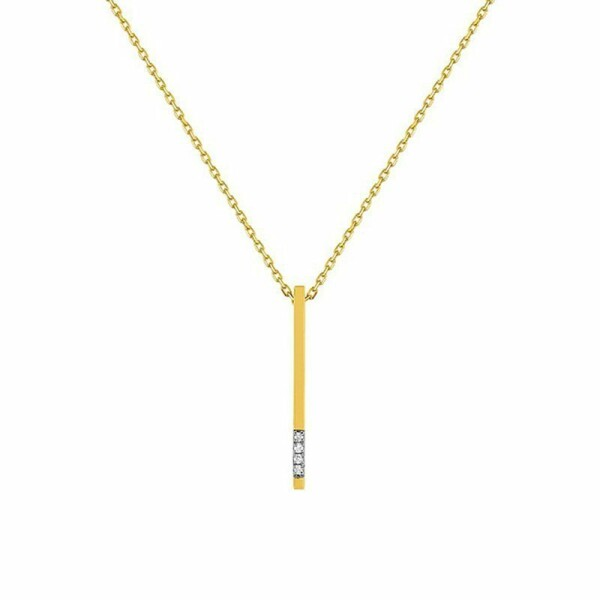 Collier en or jaune et diamants de 0.01ct