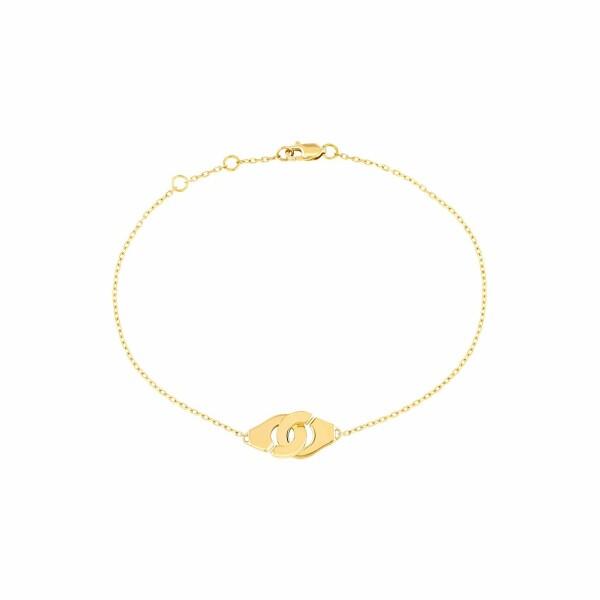 Bracelet dinh van Menottes dinh van chaîne forçat R8 en Or jaune