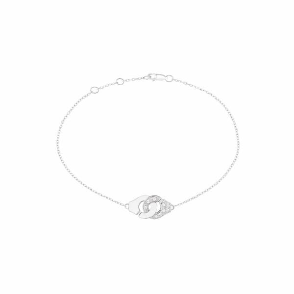 Bracelet dinh van Menottes dinh van chaîne forçat R8 en Or blanc et demi Diamant