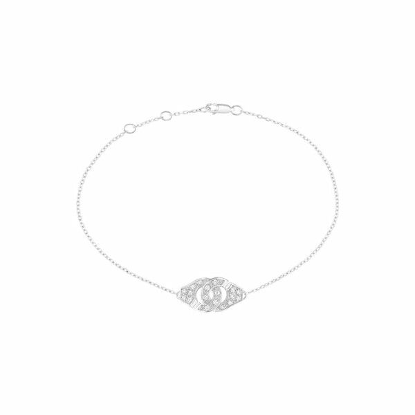 Bracelet dinh van Menottes dinh van R8 en or blanc et diamants
