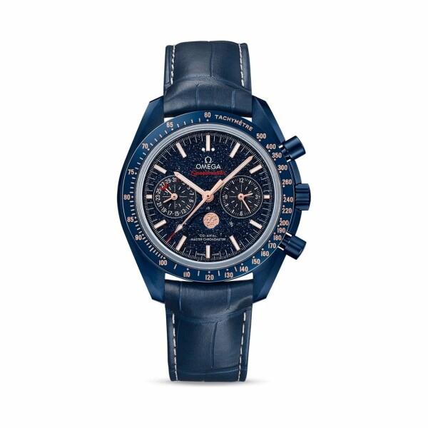 Montre Omega Speedmaster Moonwatch Blue Side of the Moon Co‑Axial Master Chronometer Chronographe Phases de lune 44.25mm